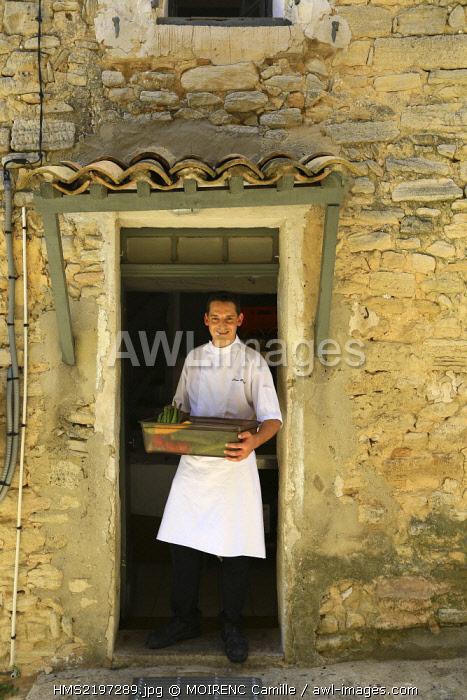 France, Vaucluse, Crillon le Brave Hotel Crillon Le Brave, chef Jerome Blanchet kitchen