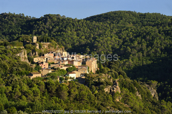 France, Var, the Dracenie, village of Chateaudouble