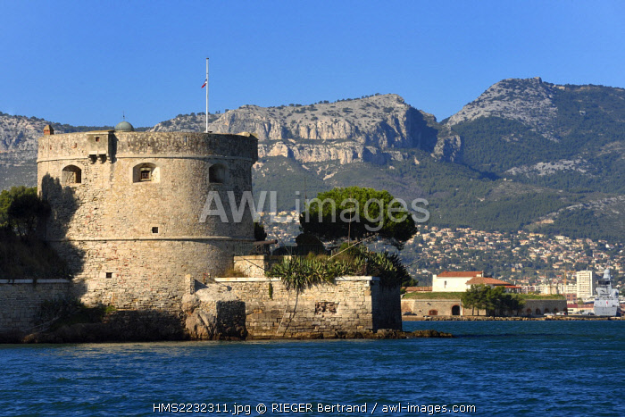 France, Var, the Rade (Roadstead) of Toulon, La Seyne-sur-Mer, Fort Balaguier