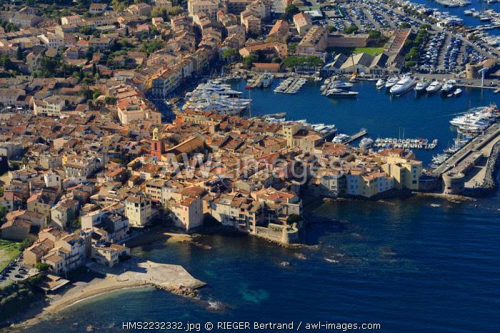 France, Var, Saint-Tropez, (aerial view)