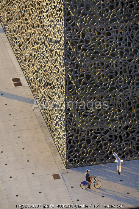 France, Bouches du Rhone , Marseille, Euromediterranee area, MuCEM, the Museum of Civilization in Europe and the Mediterranean and R. R. Ricciotti architects Carta