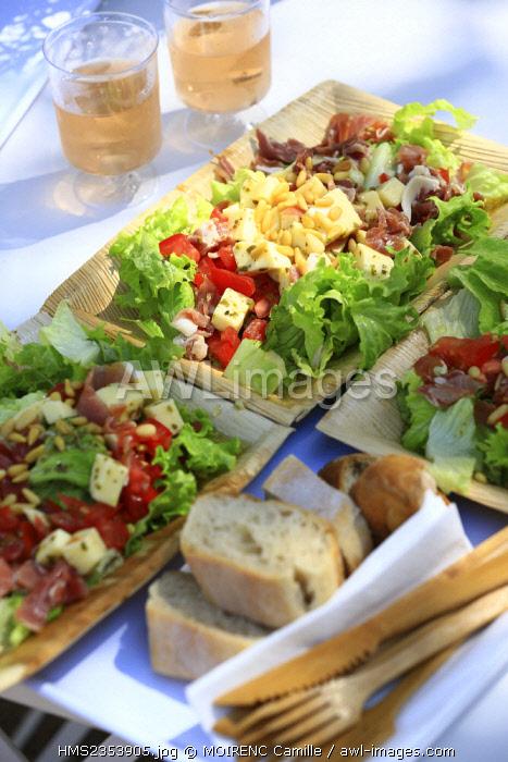 France, Var, Bormes les Mimosas, Chateau Leoube, AOP Cote de Provence, Pellegrin beach, Le Cafe Leoube