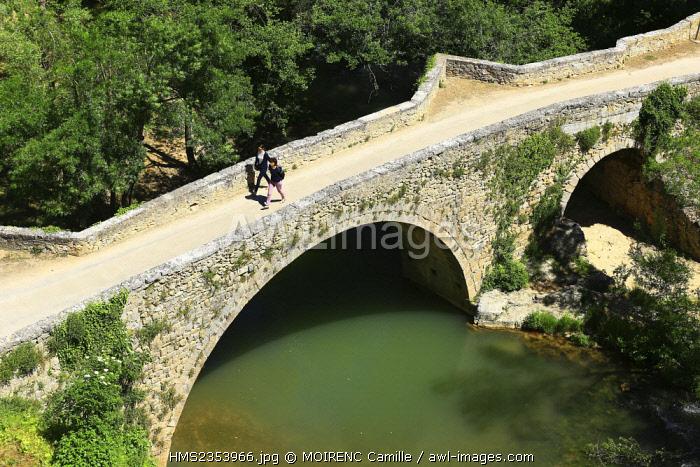 France, Var, Provence Verte, Entrecasteaux, the Saint Catherine bridge over Bresque