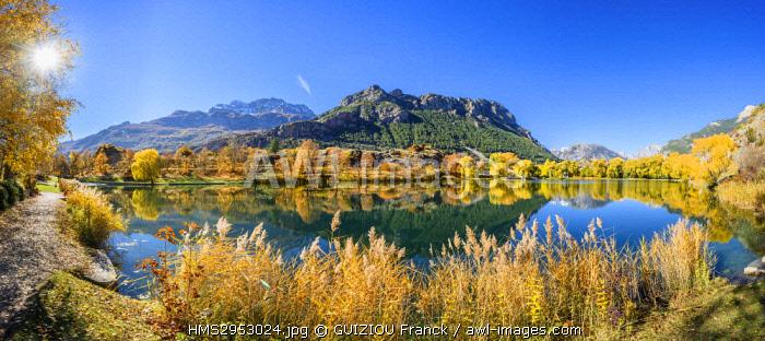 France, Hautes-Alpes, Pays des Ecrins, Durance valley, La Roche-de-Rame lake