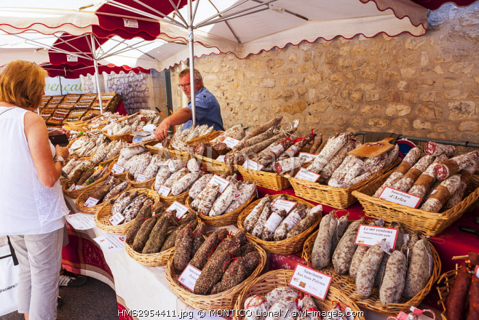 France, Vaucluse, Sault, the market