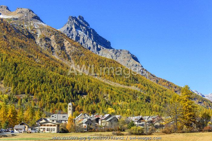 France, Hautes-Alpes, Briançonnais, Guisane valley, Le Monetier-les-Bains, hamlet of Le Casset (alt : 1519 m)
