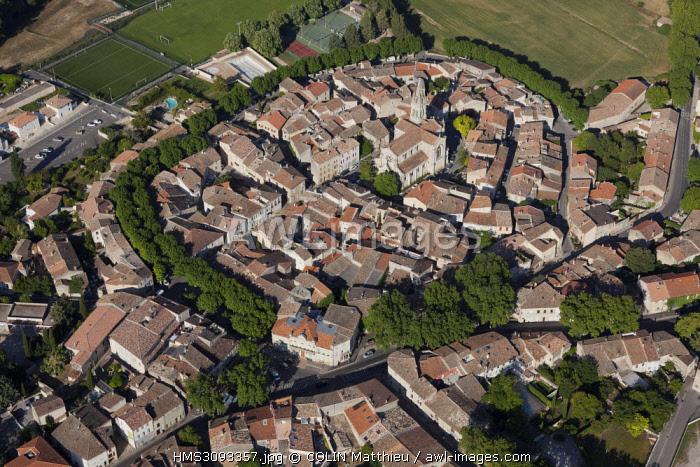 France, Bouches du Rhone, Saint Cannat (aerial view)