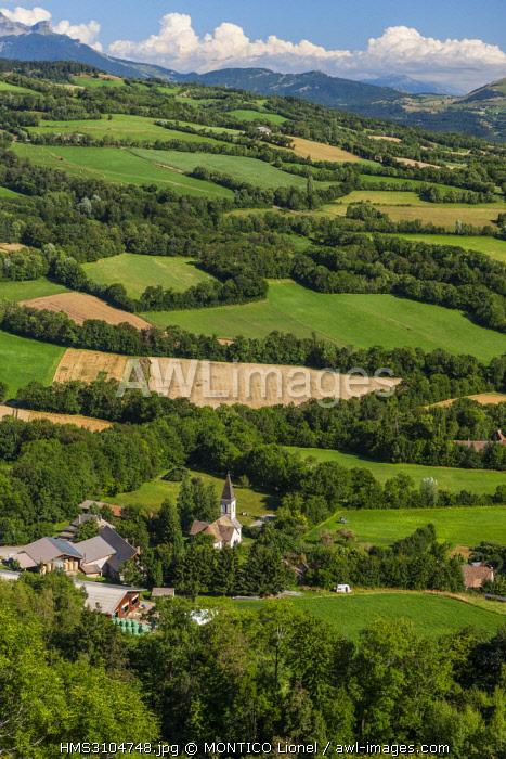 France, Hautes-Alpes, Champsaur Valley, to Benevent-et-Charbillac