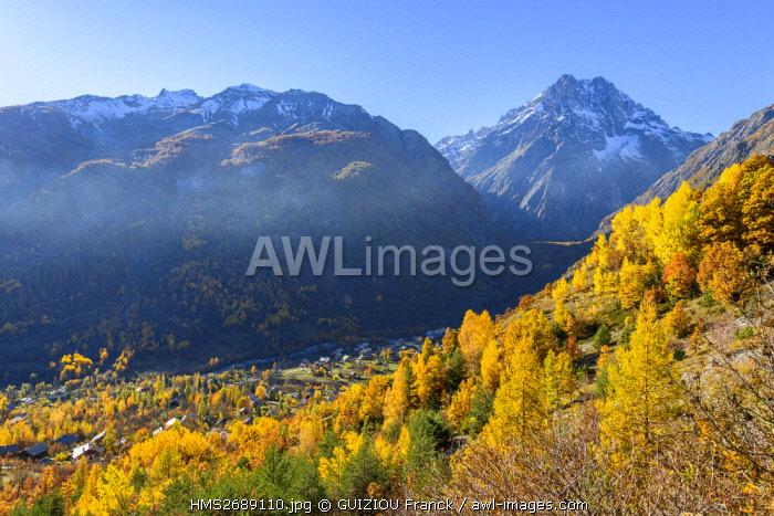 France, Hautes Alpes, Brianconnais region, Vallouise valley, Mount Pelvoux (alt : 3943m)