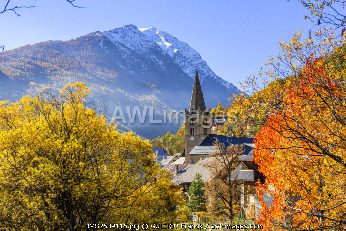 France, Hautes Alpes, Brianconnais region, Vallouise valley, Vallouise village