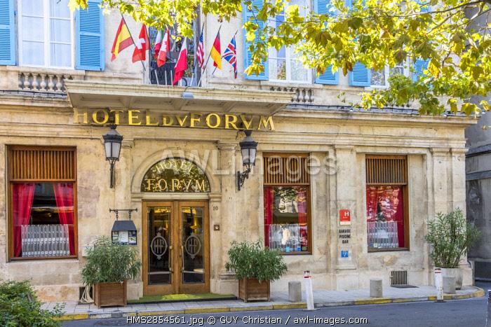 France, Bouches du Rhone, Arles, Hotel du Forum