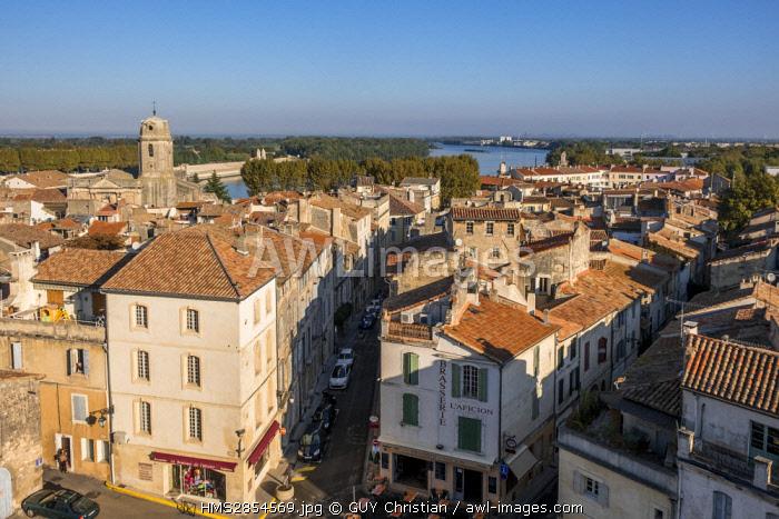 France, Bouches du Rhone, Arles, Cavalerie-Lamartine district near Arenas, Saint Julien church, Cavalerie Lamartine district