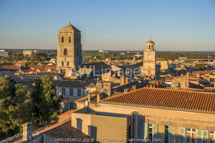 France, Bouches du Rhone, Arles, Saint Trophime church of the 12th-15th century, listed as World Heritage by UNESCO