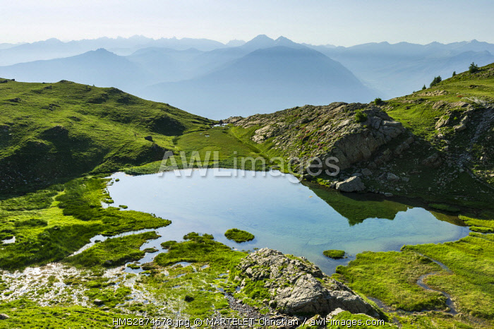 France, Hautes Alpes, Embrun, The Mount Guillaume, The Lake of Livernet (2352m)