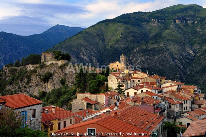 France, Alpes Maritimes, Roya Bevera Valley, Piene Haute village