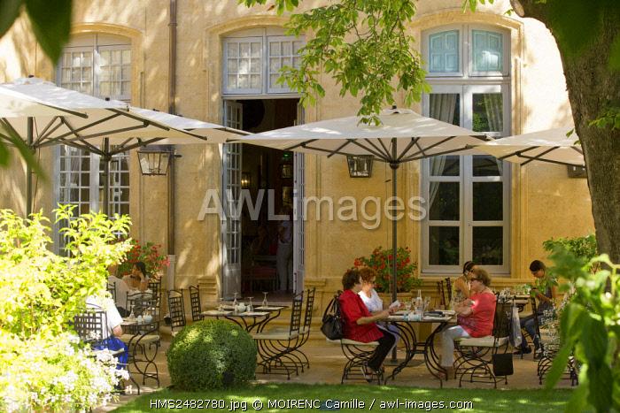 France, Bouches du Rhone, Aix en Provence, Mazarin quarter, rue Joseph Cabassol, Caumont Art Center, the garden (Compulsory Mention)