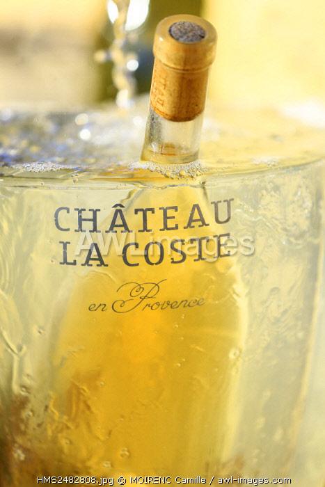 France, Bouches du Rhone, Le Puy Sainte Reparade, Chateau La Coste, AOP Coteaux d'Aix (Compulsory Mention)