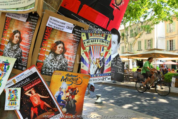 France, Vaucluse, Avignon, Place Crillon, Avignon Festival