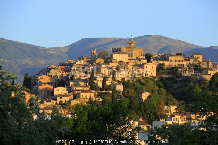 France, Alpes Maritimes, Cagnes sur Mer, medieval village of Haut de Cagnes, the Grimaldi Castle Museum (XIV)