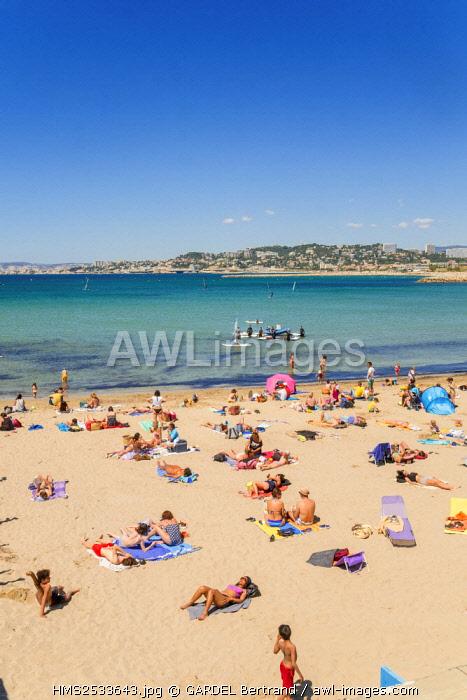 France, Bouches du Rhone, Marseille, Pointe Rouge beach
