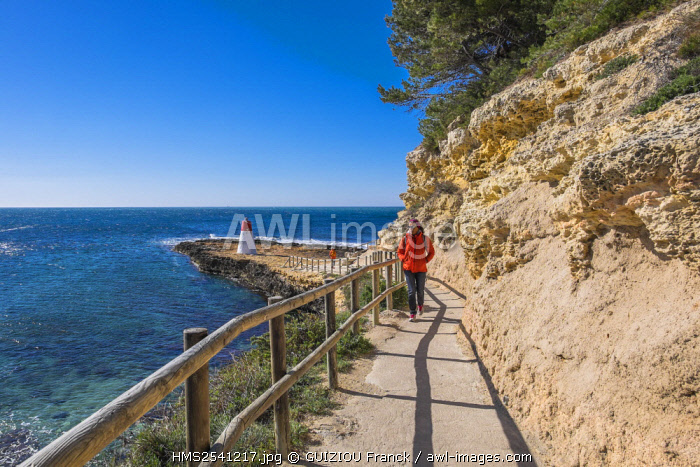 France, Bouches du Rhone, Blue Coast, Carry le Rouet, Lizard Footpath between Carry le Rouet and Sausset les Pins