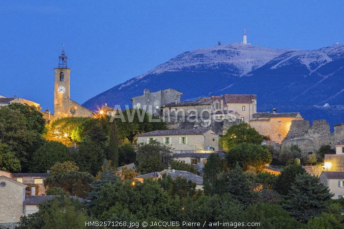France, Vaucluse, Faucon, view of the Mont Ventoux