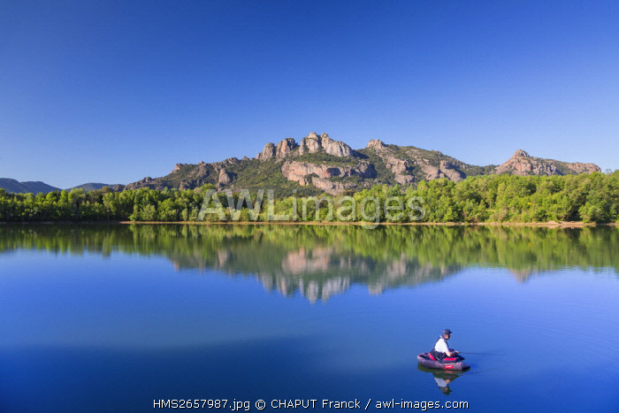France, Var, Roquebrune sur Argens,Rocher de Roquebrune
