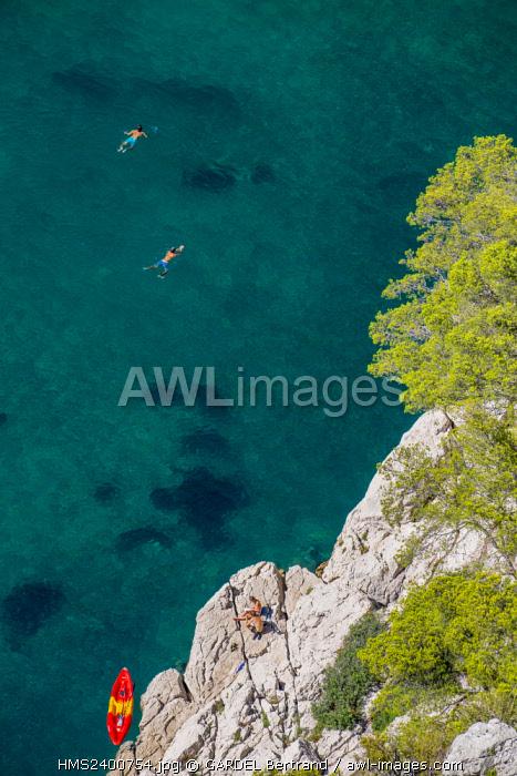 France, Bouches du Rhone, Marseille, the Calanques National Park, the cove of En Vau