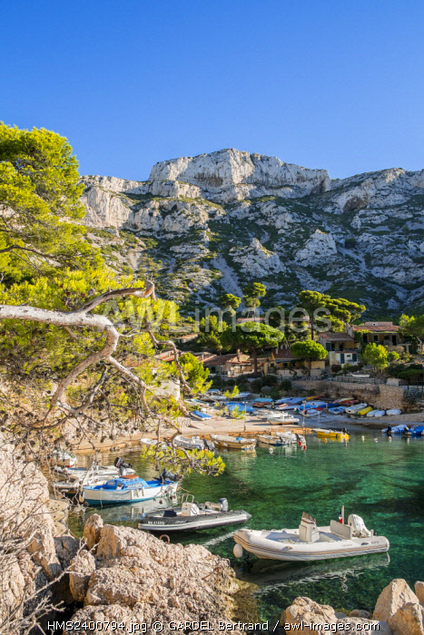 France, Bouches du Rhone, Marseille, the Calanques National Park, the Sormiou cove