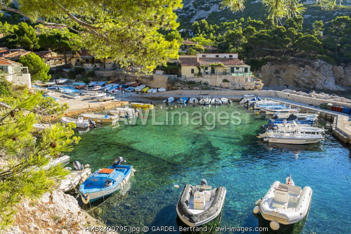 France, Bouches du Rhone, Marseille, the Calanques National Park, the Sormiou cove