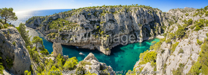 France, Bouches du Rhone, Marseille, the Calanques National Park, the cove of En Vau