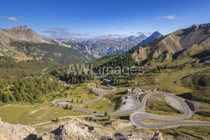 France, Hautes Alpes, road of the collar of Izoard (2360m), carries of entrance of Queyras