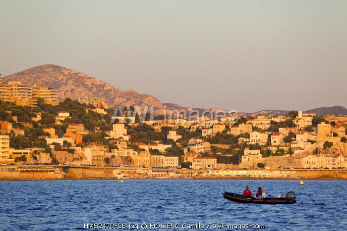 France, Bouches du Rhone, Marseille, Endoume district, Corniche JF Kennedy