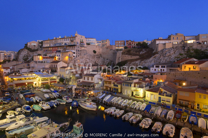 France, Bouches du Rhone, Marseille, Endoume district, cove valley of Auffes