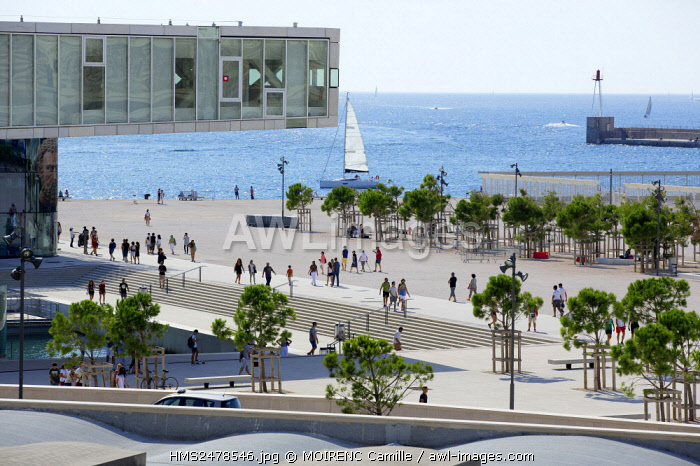 France, Bouches du Rhone, Marseille, Euromediterranee area, Esplanade J4, The Mediterranean Villa, architect Stefano Boeri