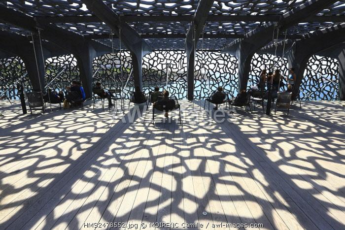France, Bouches du Rhone, Marseille, Euromediterranee area, MuCEM Civilisations Museum of European and Mediterranean R. Ricciotti and R. Carta architects