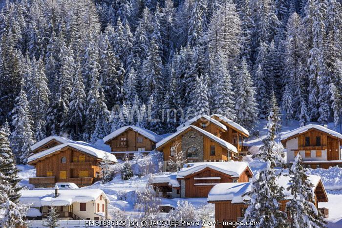 France, Savoie, Maurienne Valley, Modane, Valfrejus ski resort