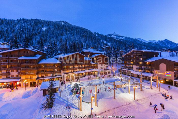 France, Savoie, Maurienne Valley, Modane, Valfrejus ski resort, the ice rink