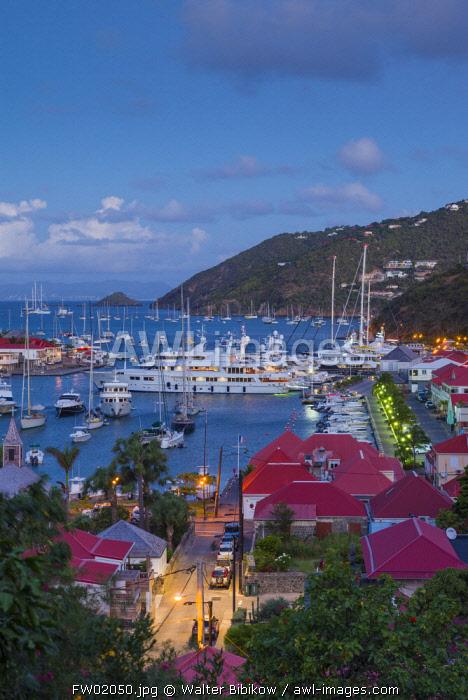 French West Indies, St-Barthelemy, Gustavia, Gustavia Harbor