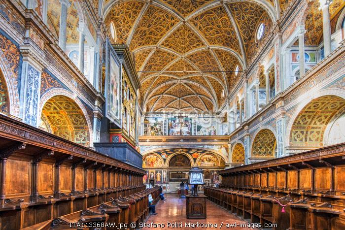 Interior view of San Maurizio al Monastero Maggiore church, Milan, Lombardy, Italy