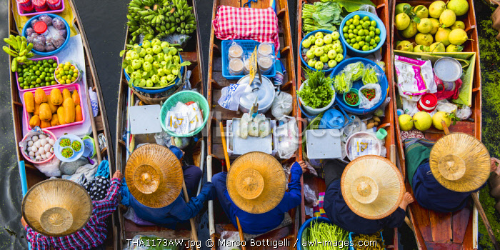 Floating markets, Bangkok, Thailand.