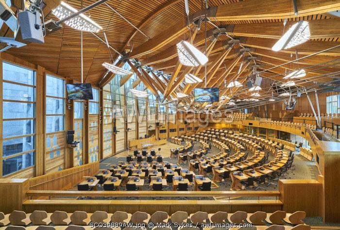 Europe, Scotland, Lothian, Edinburgh, Scottish Parliament Building Interior