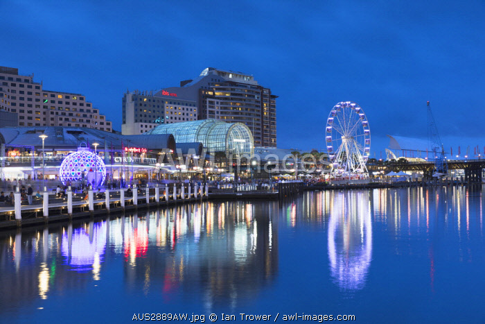 awl-images.com - Australia / Darling Harbour at dusk, Sydney, New South Wales, Australia