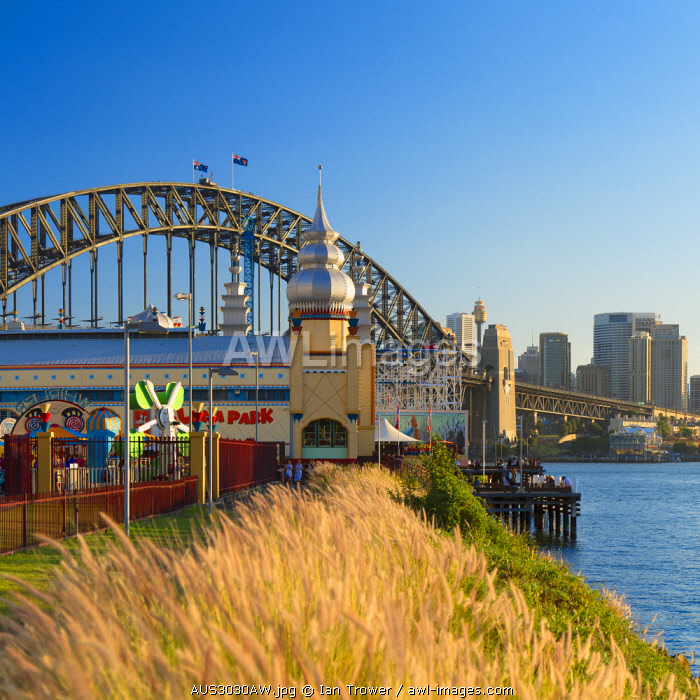 awl-images.com - Australia / Sydney Harbour Bridge and Luna Park, Sydney, New South Wales, Australia