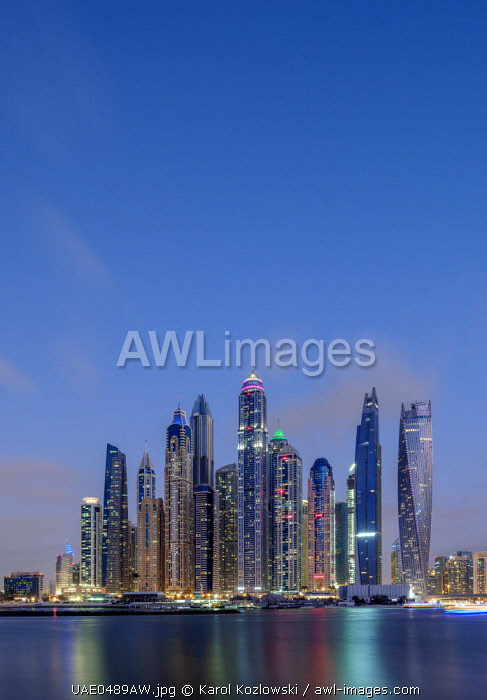 awl-images.com - United Arab Emirates / Dubai Marina at twilight, Dubai, United Arab Emirates