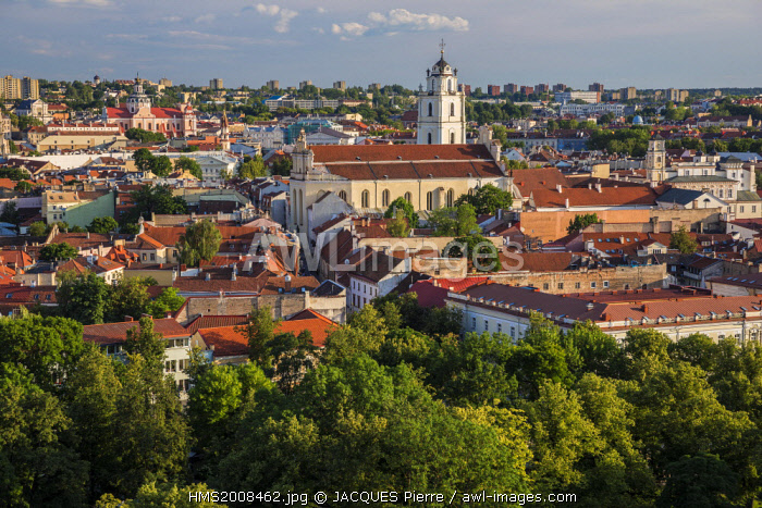 awl-images.com - Lithuania / Lithuania (Baltic States), Vilnius, historical center listed as World Heritage by UNESCO, the city center seen since the tower Gediminas