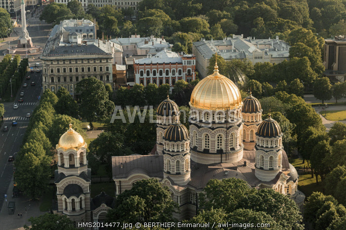 Latvia, Vidzeme, Riga, European capital of culture 2014, historical centre listed as World Heritage by UNESCO, riga's nativité of christ cathedral