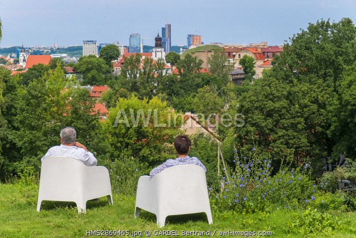 awl-images.com - Lithuania / Lithuania (Baltic States), Vilnius, historical center, listed as World Heritage by UNESCO, view of the city from Kudry Park