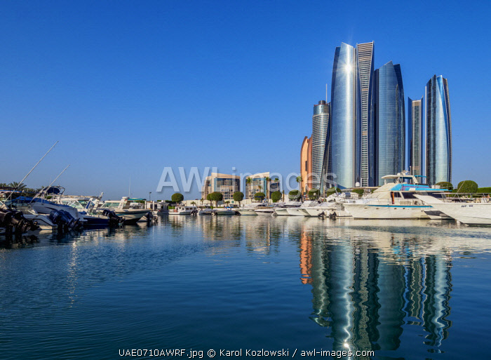 awl-images.com - United Arab Emirates / Skyline with Marina and Etihad Towers, Abu Dhabi, United Arab Emirates