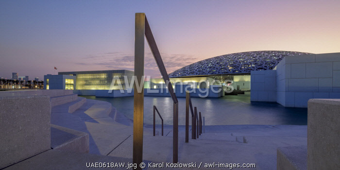 awl-images.com - United Arab Emirates / Louvre Museum at dusk, Abu Dhabi, United Arab Emirates
